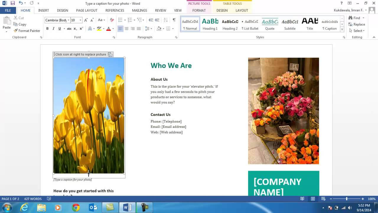 How To Create A Brochure Using Ms Word 2013 with regard to Office Word Brochure Template