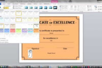 How To Create A Certificate Template In Word 2010 inside Word 2013 Certificate Template