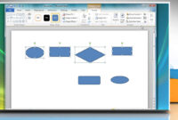 How To Create A Flow Chart In Microsoft® Word 2010 within Microsoft Word Flowchart Template