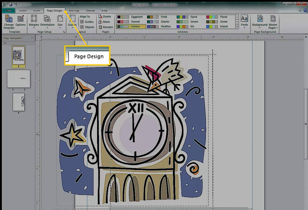How To Create A Greeting Card In Microsoft Publisher Throughout Birthday Card Publisher Template