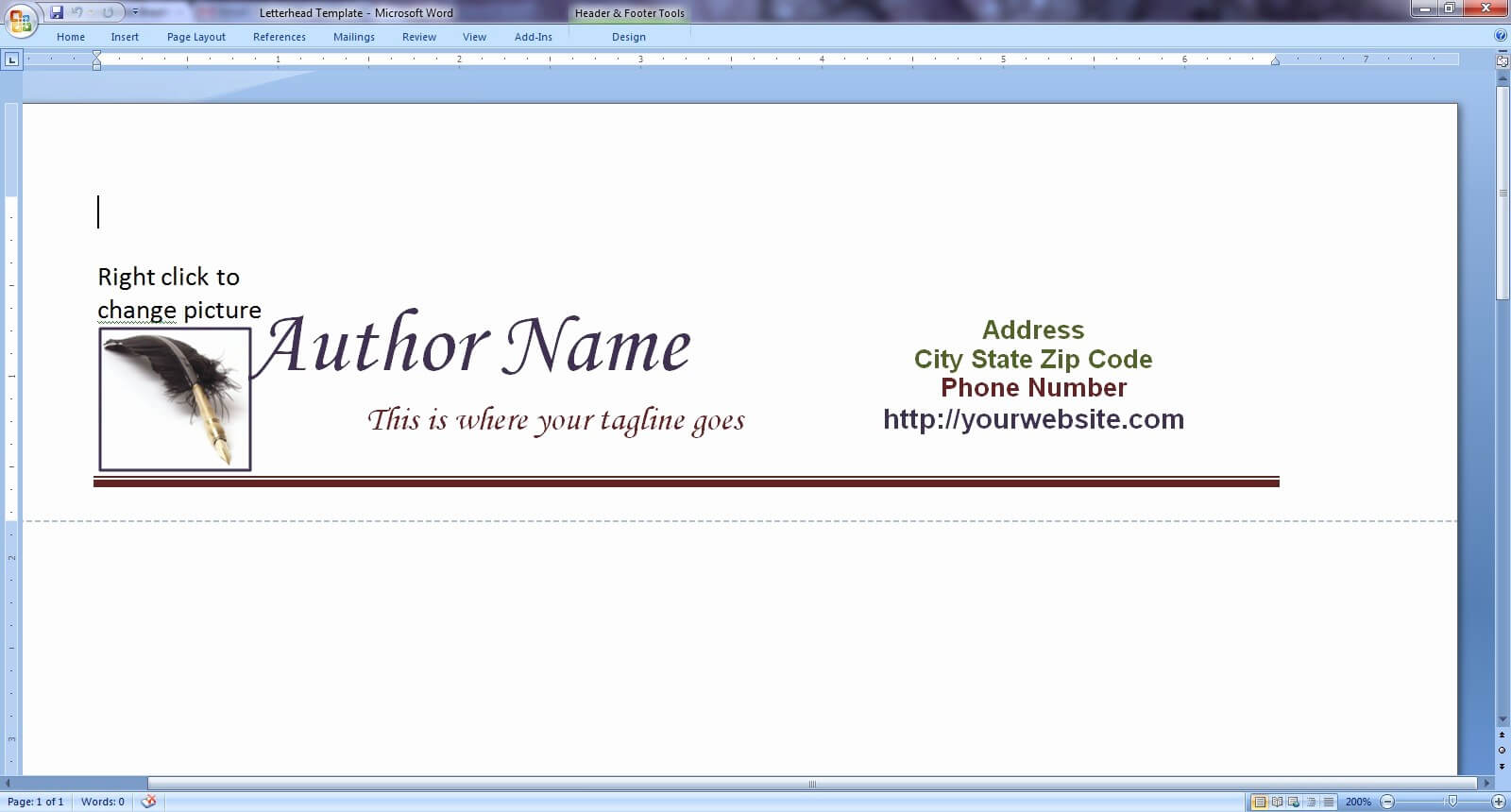 How To Create A Letterhead Template In Word throughout How To Create A Letterhead Template In Word