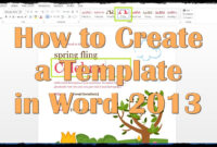 How To Create A Template In Word 2013 regarding How To Insert Template In Word
