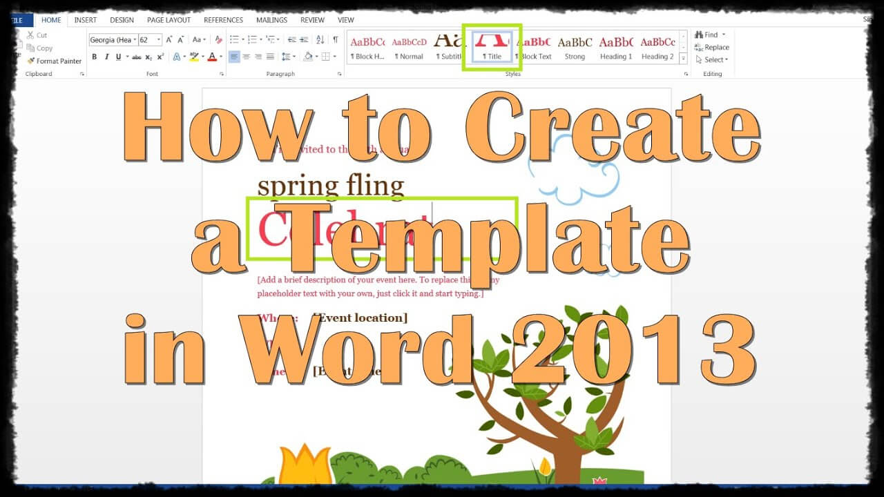 How To Create A Template In Word 2013 Within How To Create A Template In Word 2013