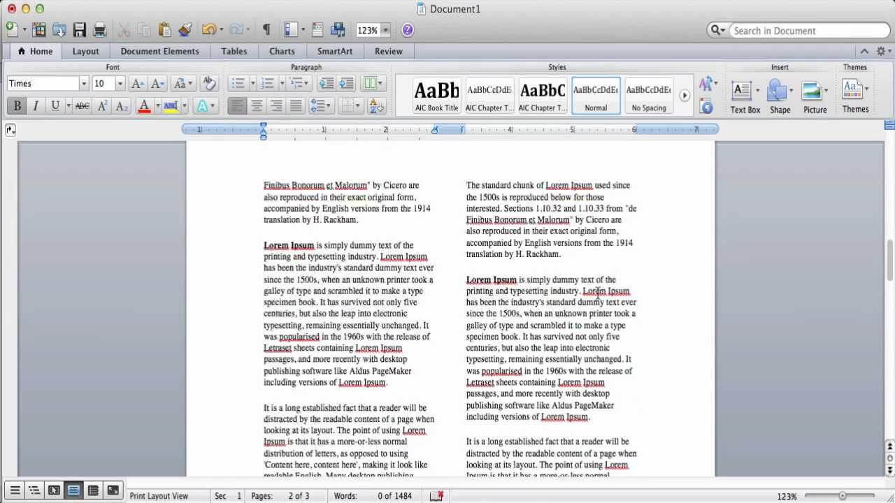 How To Create Columns In Microsoft Word inside 3 Column Word Template