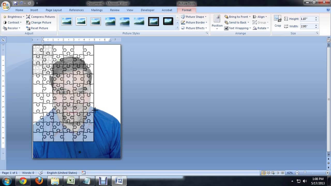 How To Create Jigsaw Puzzles In Microsoft Word, Powerpoint Or Publisher :  Tech Niche for Jigsaw Puzzle Template For Word