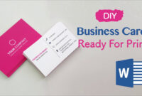 How To Create Your Business Cards In Word – Professional And Print-Ready In  4 Easy Steps! intended for Business Cards For Teachers Templates Free