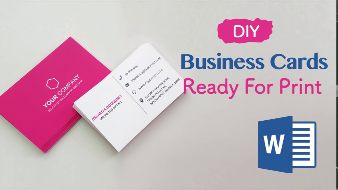 How To Create Your Business Cards In Word - Professional And Print Ready In  4 Easy Steps! Throughout Business Card Template Word 2010