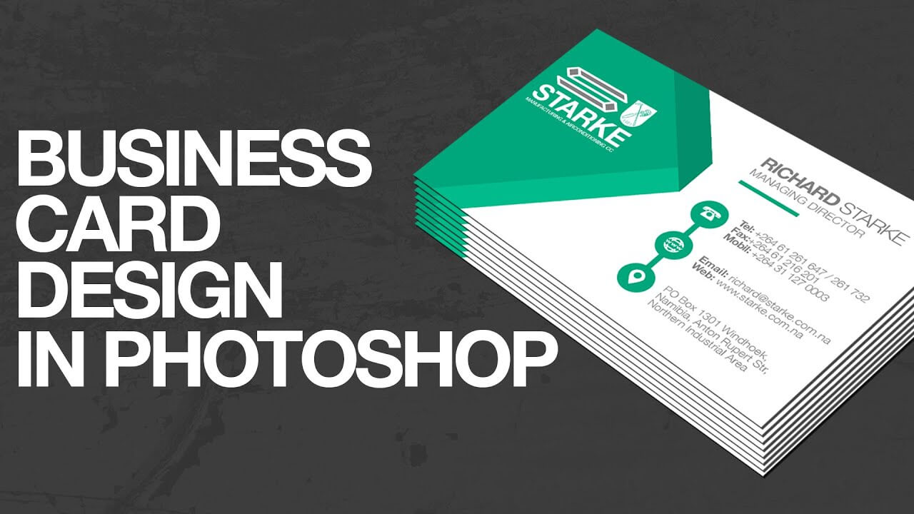 How To Design A Business Card In Photoshop Regarding Create Business Card Template Photoshop