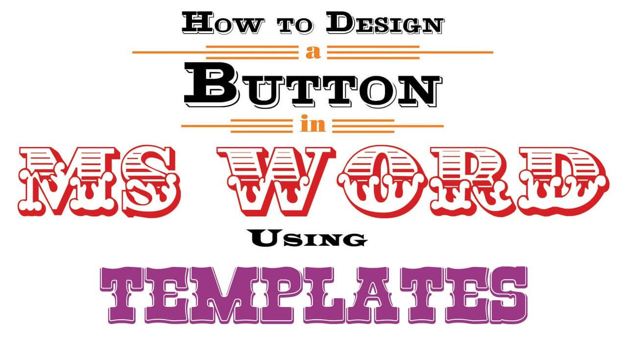 Button Template For Word