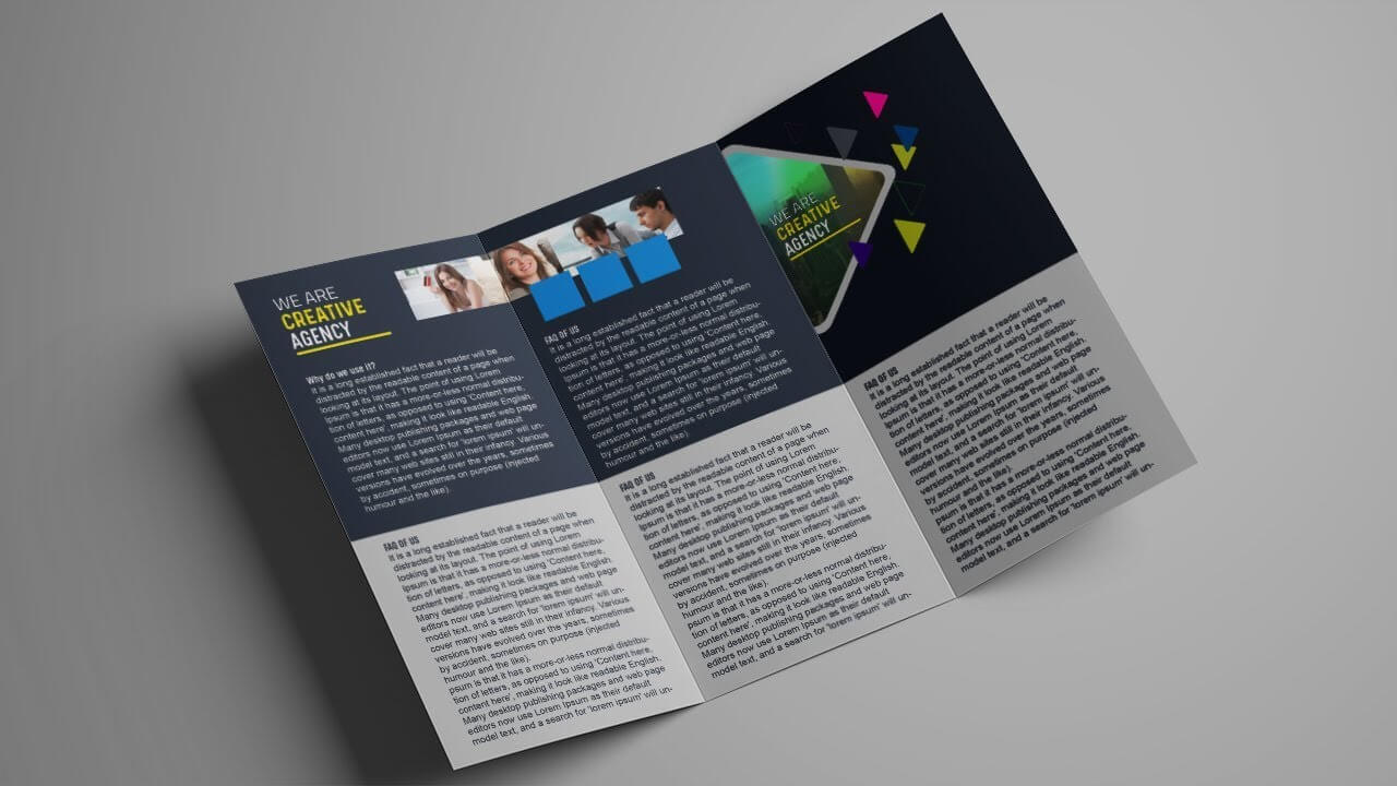 How To Design A Tri Fold Brochure Template – Photoshop Tutorial Within 3 Fold Brochure Template Psd