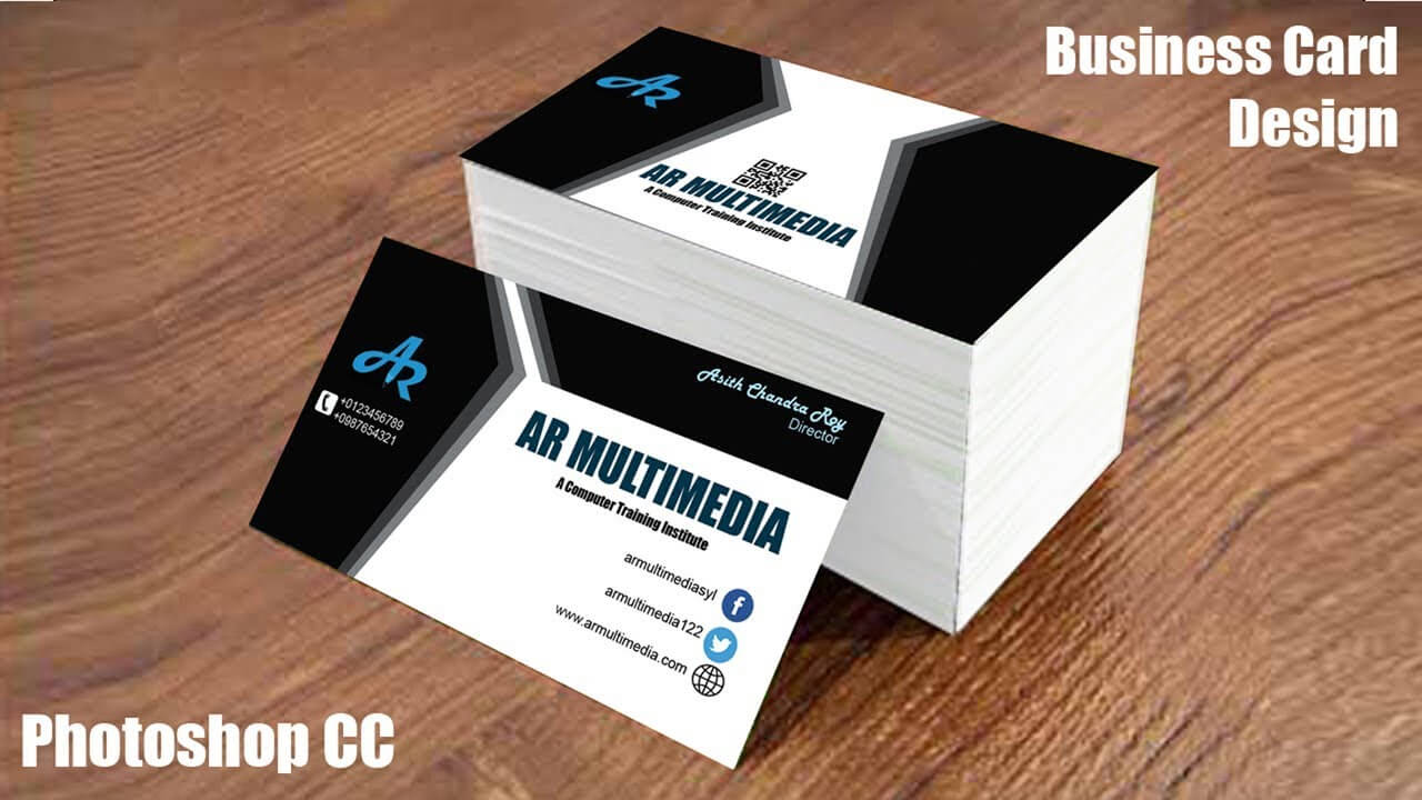 How To Design Business Card In Adobe Photoshop Cc Graphic Design Business  Cards Mockup Design Regarding Create Business Card Template Photoshop