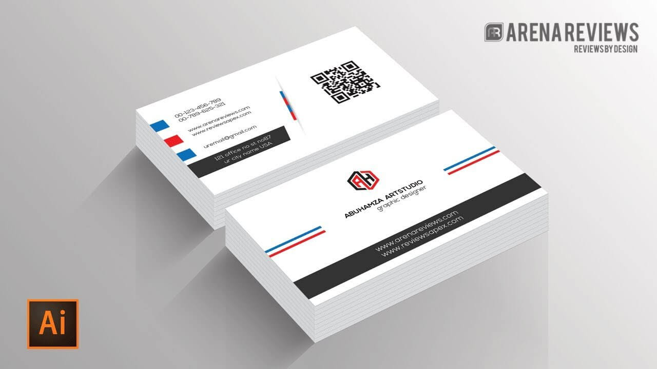 How To Design Business Card Template Illustrator Cc Tutorial In Adobe Illustrator Card Template