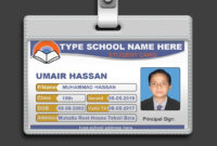 How To Design Id Card In Photoshop + Psd Free Download in College Id Card Template Psd