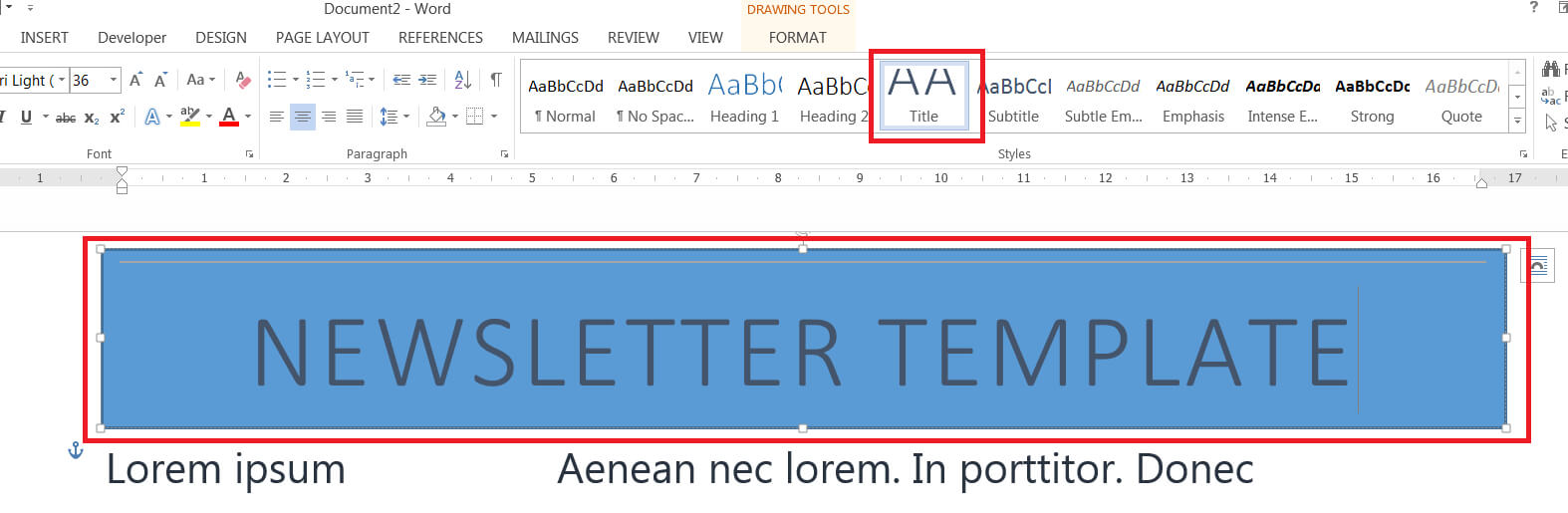 How To Easily Create A Newsletter Template In Microsoft Word In Microsoft Word Banner Template