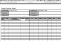 How To Fill-In A Free Travel Expense Report   Pdf   Excel with Expense Report Template Excel 2010