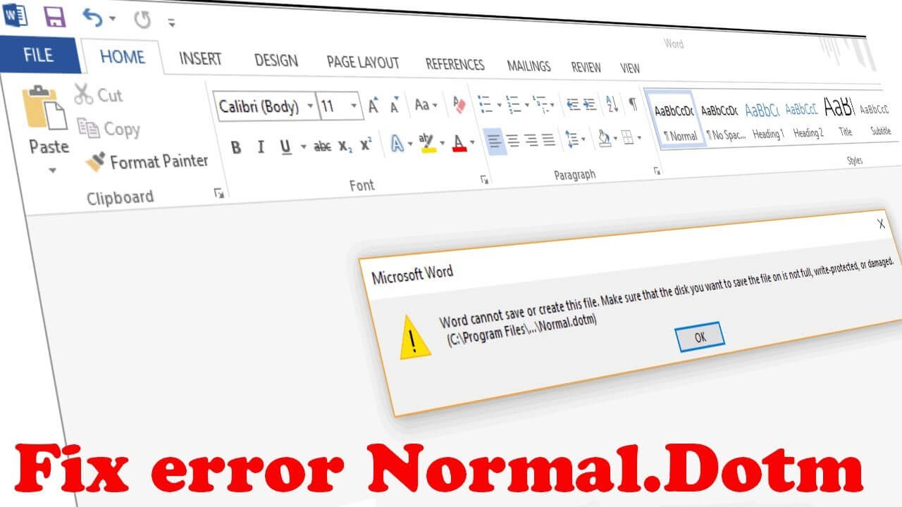 "How To Fix Word Error Normal.dot ""word Cannot Save Or Create This File"" throughout Word Cannot Open This Document Template"