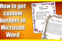 How To Get A Custom Border In Microsoft Word intended for Scroll Paper Template Word