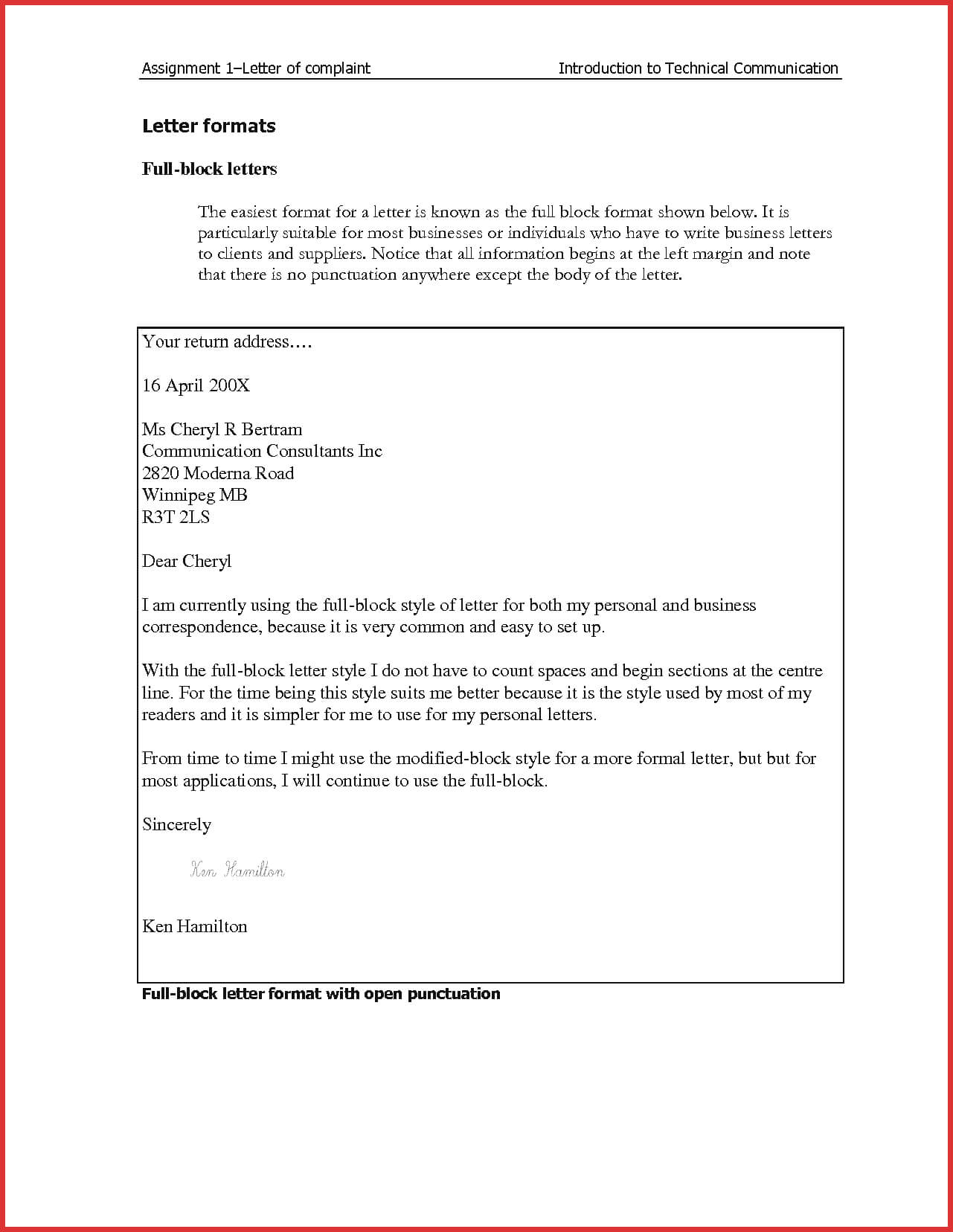 How To Get Business Letter Format On Microsoft Word 2010 With Modified Block Letter Template Word