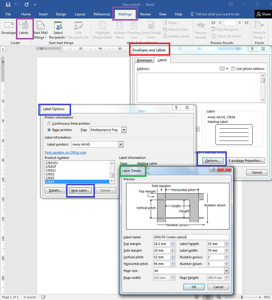 How To – How To Create Your Own Label Templates In Word with regard to Labels 8 Per Sheet Template Word
