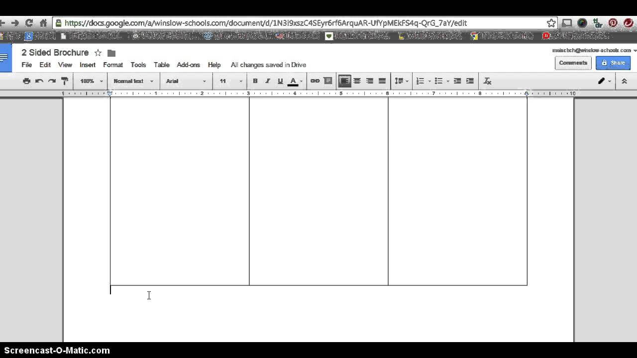 How To Make 2 Sided Brochure With Google Docs With Brochure Template Google Docs