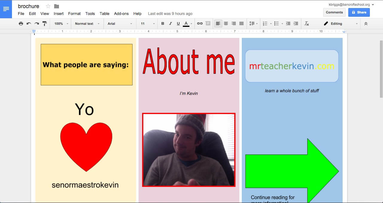 How To Make A Brochure In Google Docs intended for Travel Brochure Template Google Docs