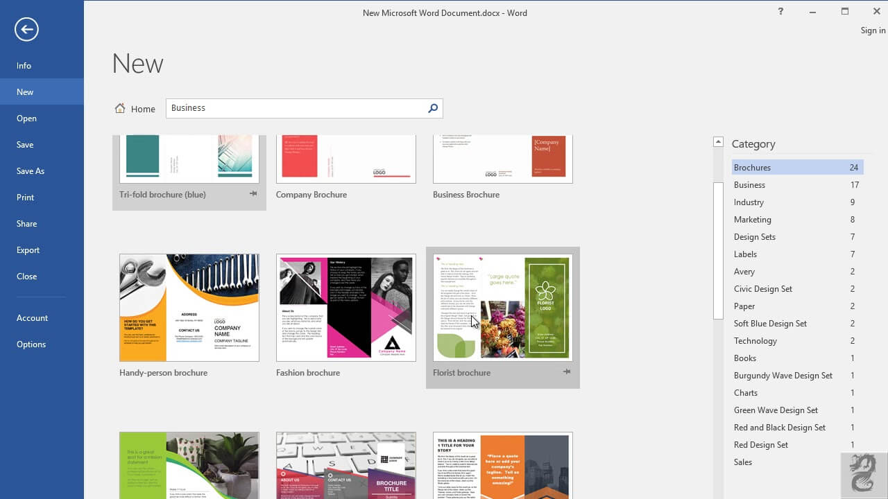 How To Make A Brochure In Microsoft Word 2016 for Office Word Brochure Template
