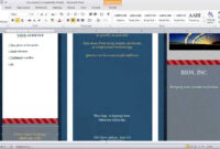 How To Make A Brochure In Microsoft Word pertaining to Brochure Templates For Word 2007