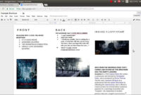 How To Make A Brochure On Google Docs within Science Brochure Template Google Docs