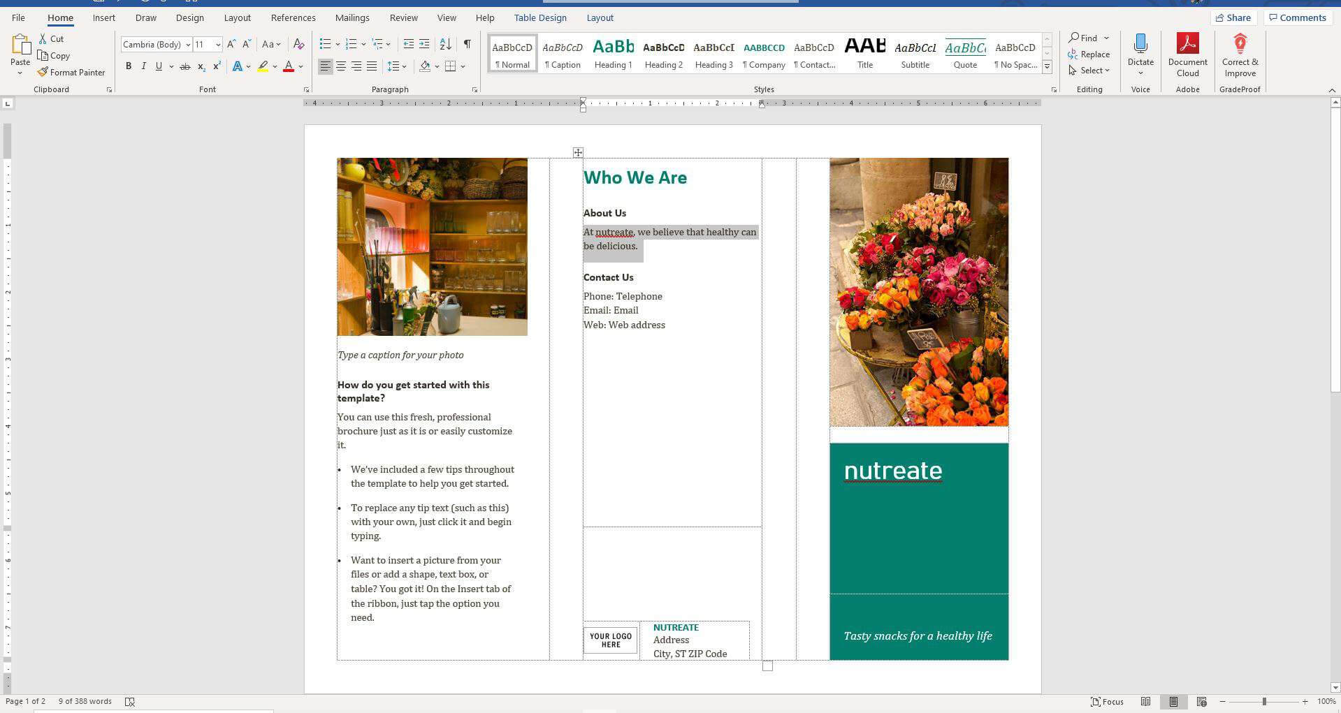 How To Make A Brochure On Microsoft Word for Word Catalogue Template