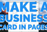 How To Make A Business Card In Pages For Mac (2016) with Business Card Template Pages Mac