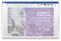 How To Make A Flyer On Word with Templates For Flyers In Word
