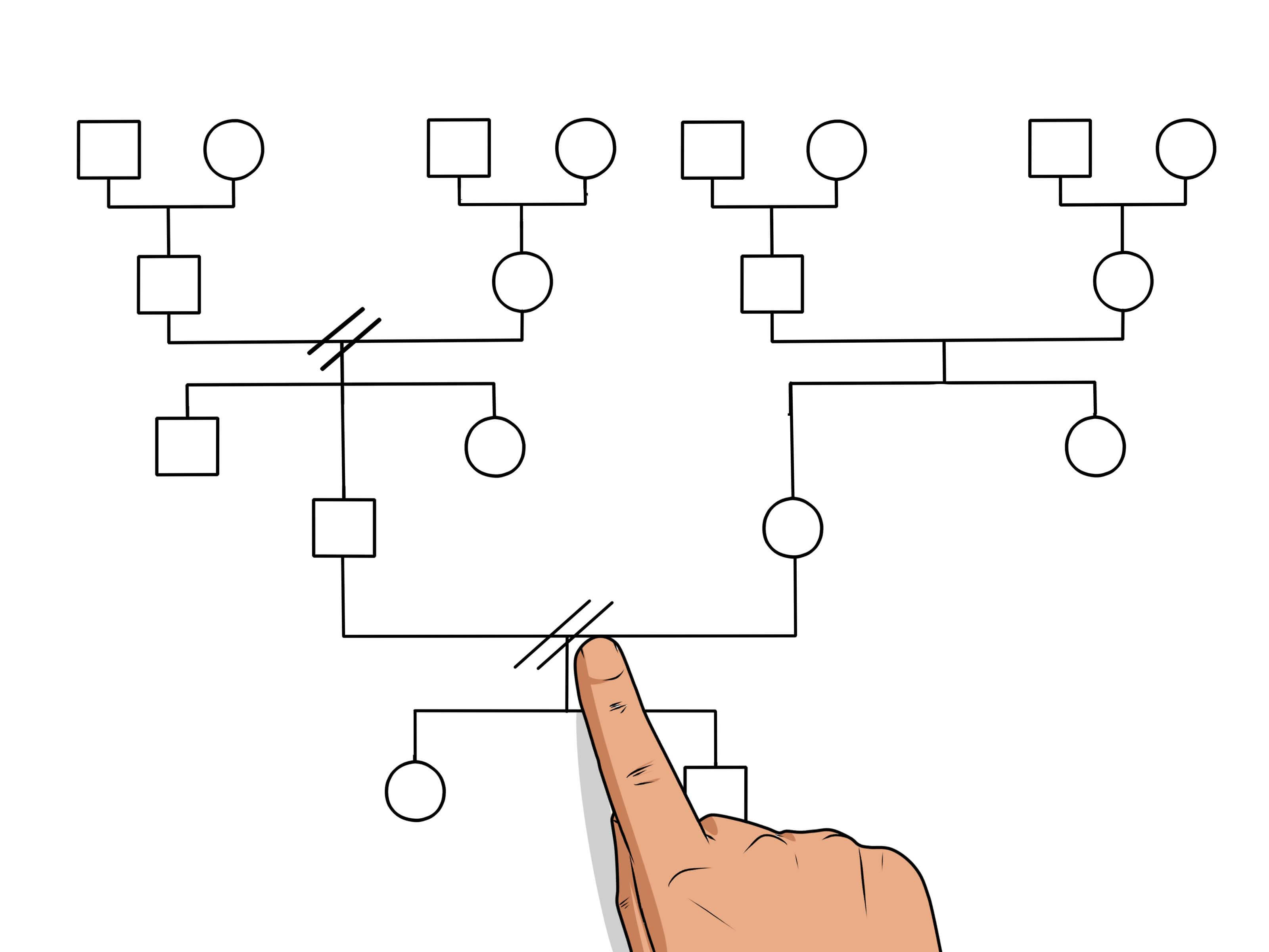 How To Make A Genogram: 14 Steps (With Pictures) - Wikihow inside Genogram Template For Word
