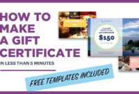 How To Make A Gift Certificate (Free Template Included) Within Gift Certificate Template Publisher