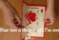 How To Make A I Love You Pop Up Card, Valentine's Day Pop-Up Card Tutorial  – Free Template within I Love You Pop Up Card Template