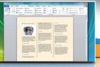 How To Make A Tri-Fold Brochure In Microsoft® Word 2007 in Ms Word Brochure Template