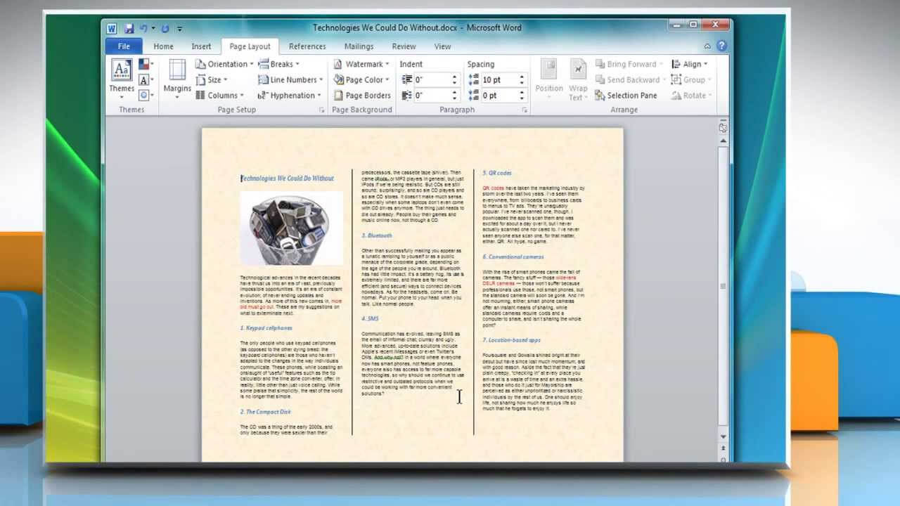 How To Make A Tri-Fold Brochure In Microsoft® Word 2007 inside Booklet Template Microsoft Word 2007