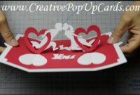 How To Make A Valentines Day Pop Up Card: Twisting Hearts for Twisting Hearts Pop Up Card Template