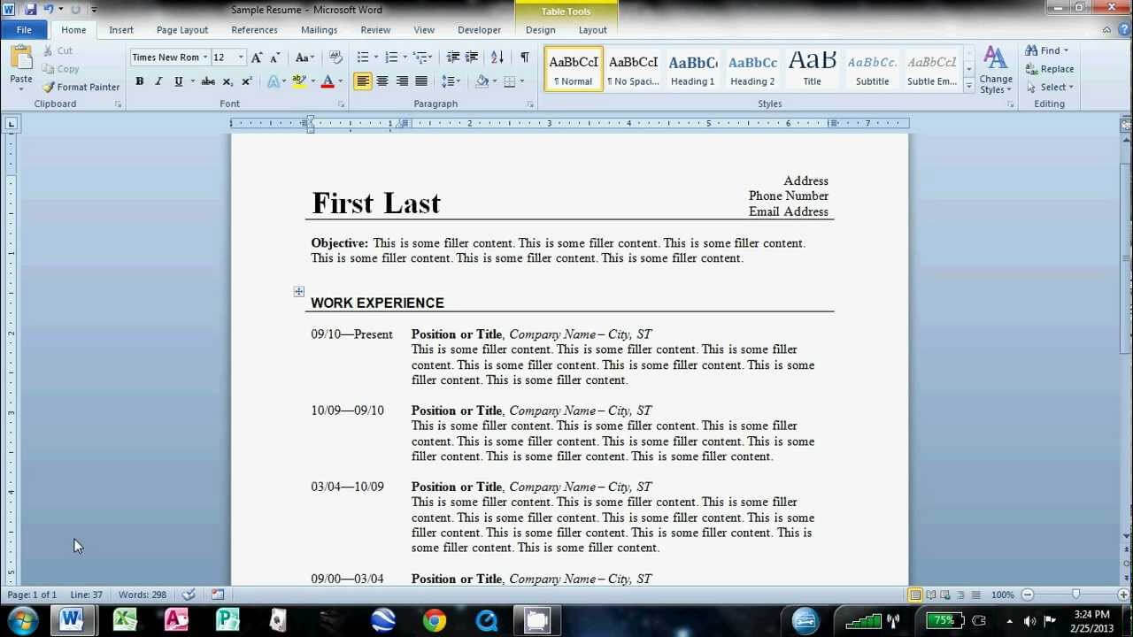 How To Make An Easy Resume In Microsoft Word for How To Find A Resume Template On Word