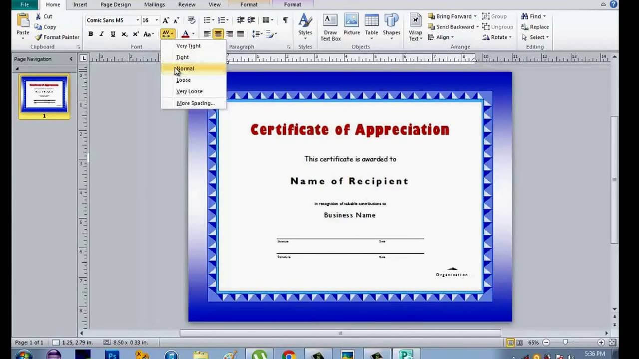 How To Make Certificate Using Microsoft Publisher within Award Certificate Templates Word 2007