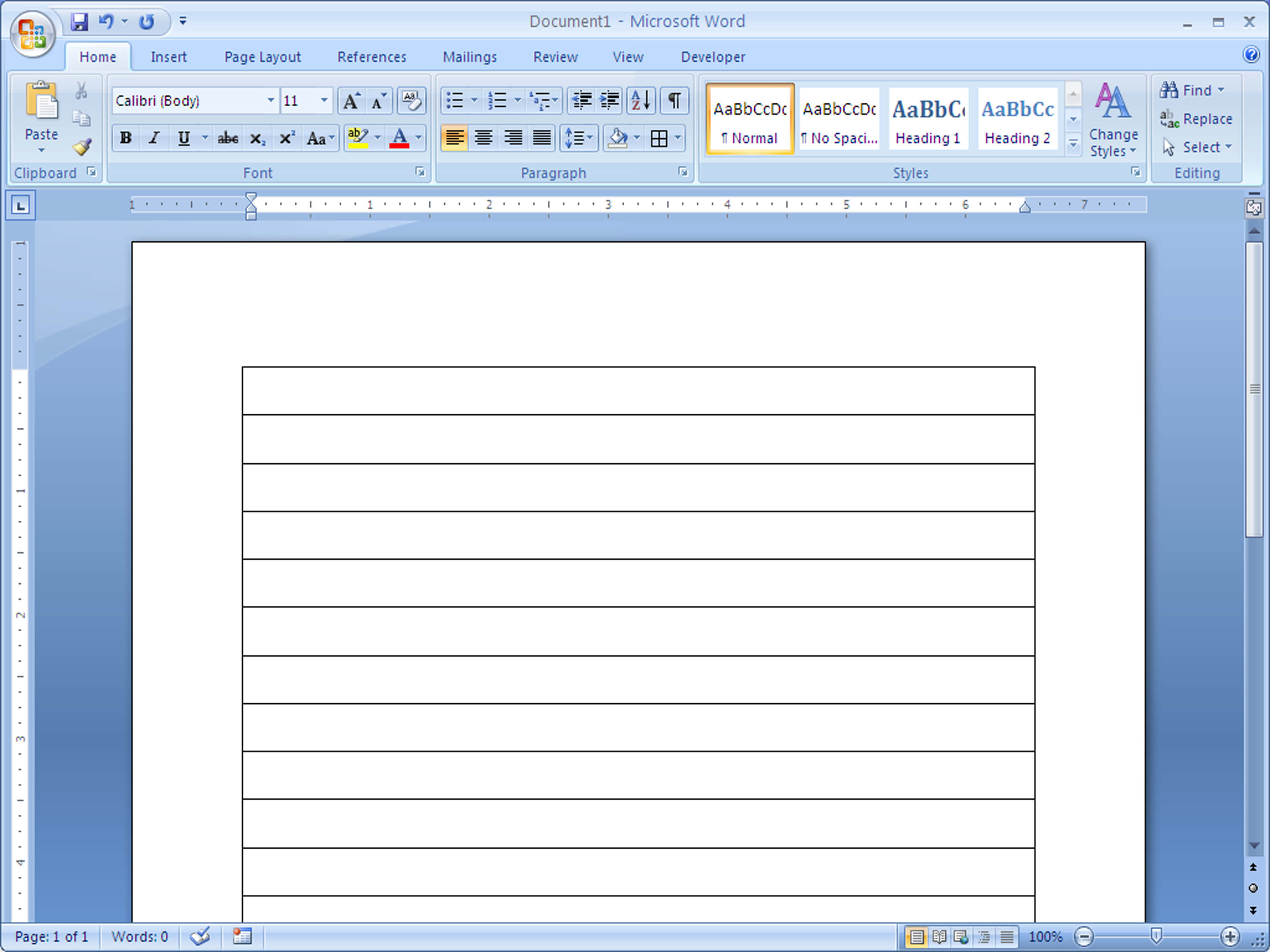 How To Make Lined Paper In Word 2007: 4 Steps (With Pictures) With College Ruled Lined Paper Template Word 2007