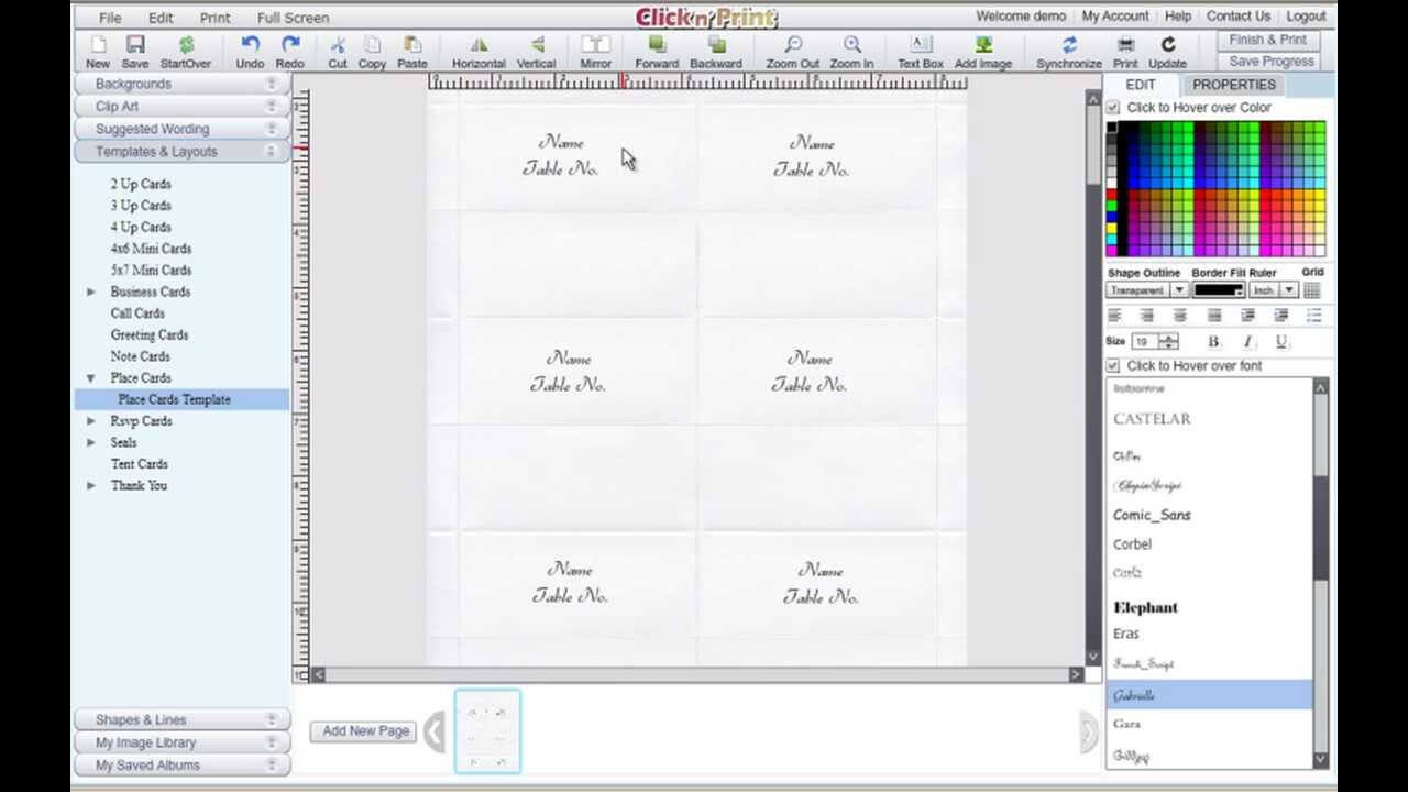 How To Make Place Cards And Rsvp Cards For Free - Geographics within Microsoft Word Place Card Template