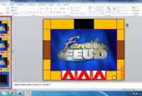 How To Make Powerpoint Games Family Feud intended for Family Feud Powerpoint Template With Sound