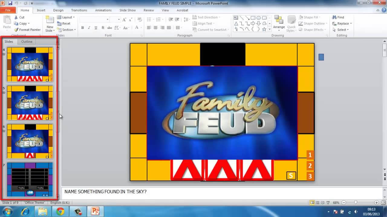 How To Make Powerpoint Games Family Feud pertaining to Family Feud Powerpoint Template Free Download