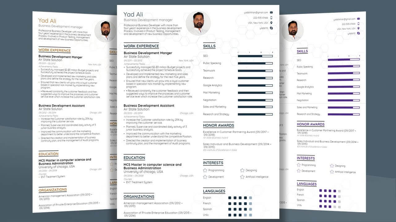How To Make Professional College Cv / Resume Template With Microsoft Word  2019 pertaining to How To Create A Cv Template In Word