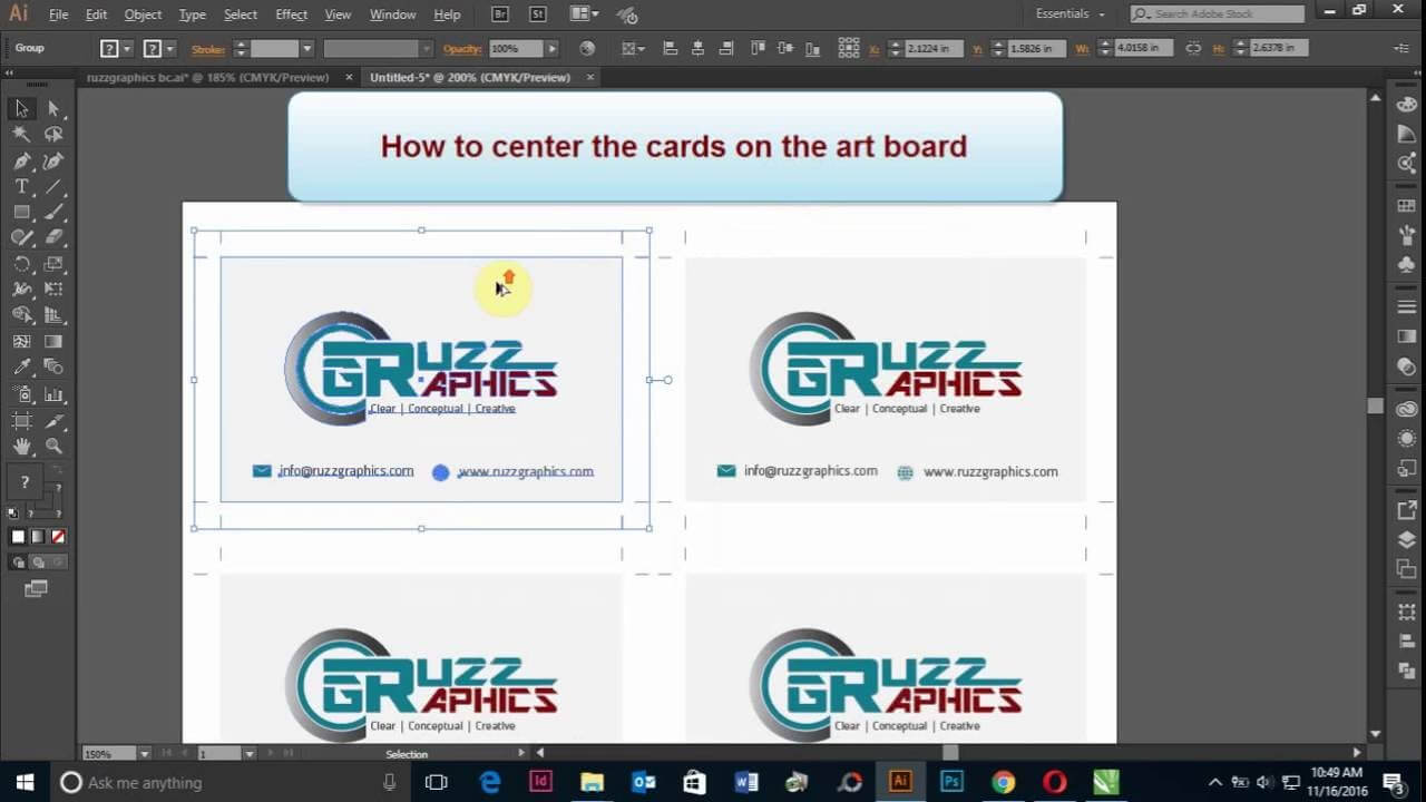 How To Print Double Sided Business Card In Adobe Illustrator With Regard To Double Sided Business Card Template Illustrator
