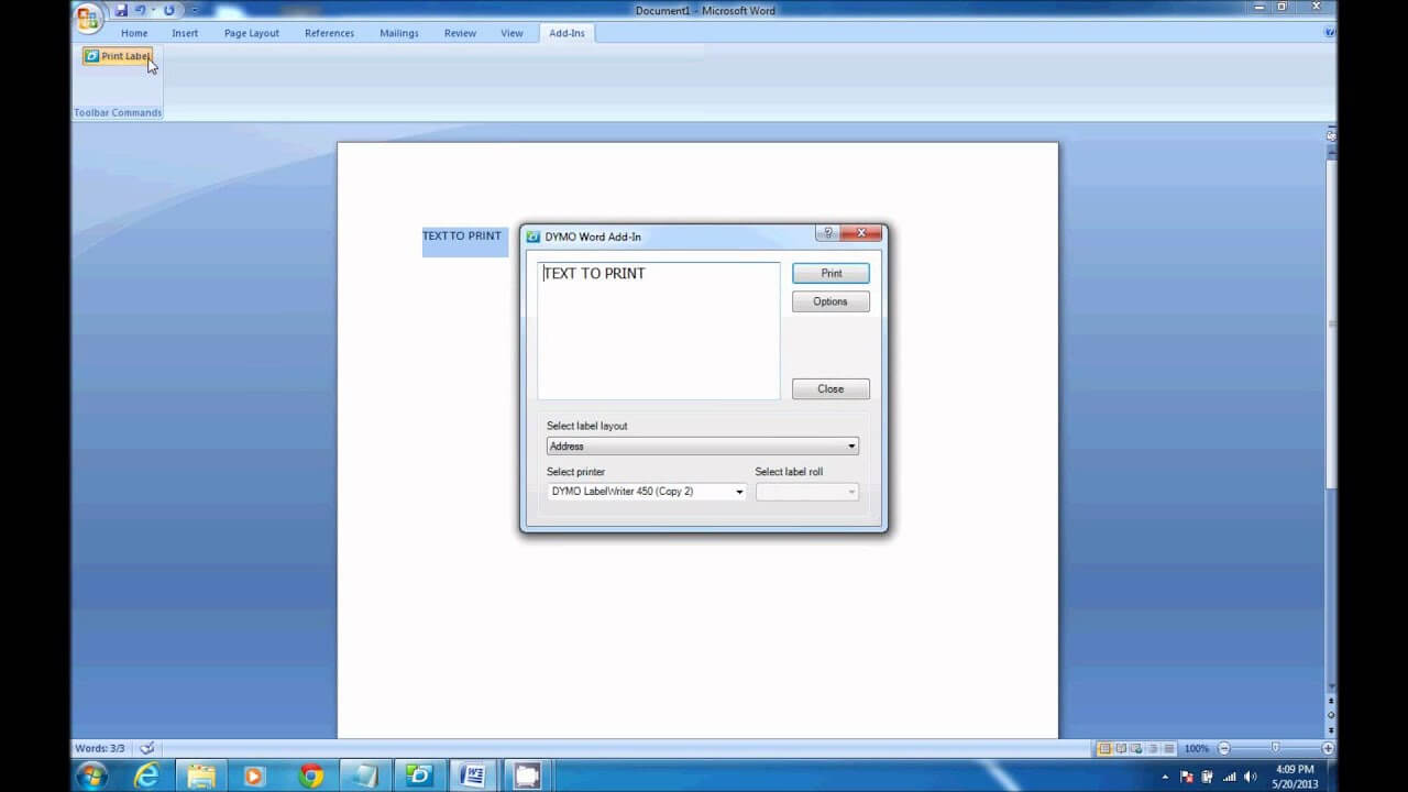 How To Print From Dymo Label Software In Microsoft Word Throughout Dymo Label Templates For Word