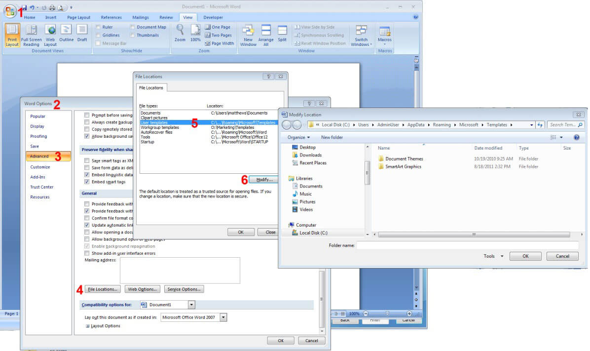 How To Reset Word 2007/2010/2013 Settings Without throughout Change The Normal Template In Word 2010
