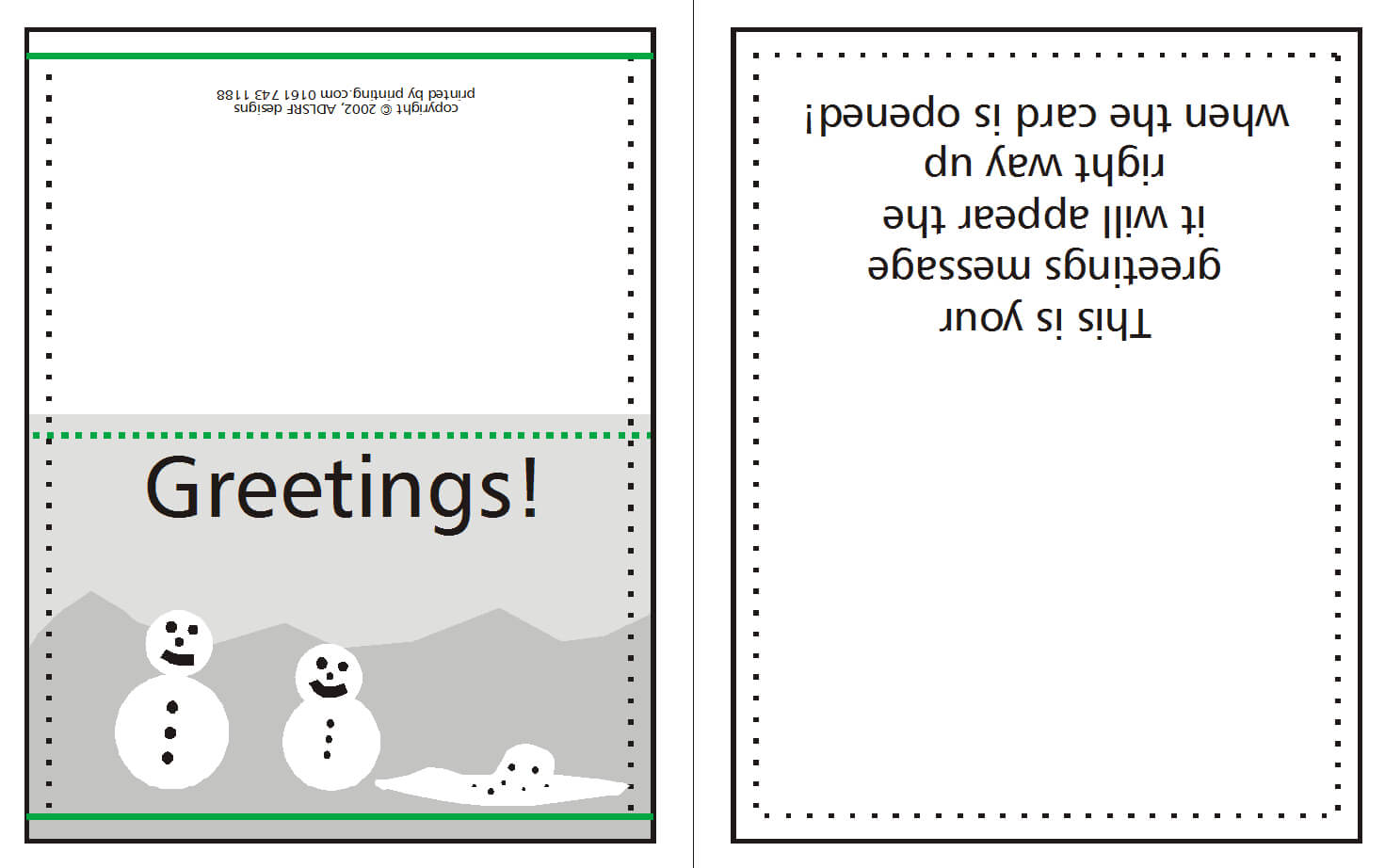 How To Supply Greeting/christmas Cards | W3Pedia Inside For Birthday Card Template Indesign