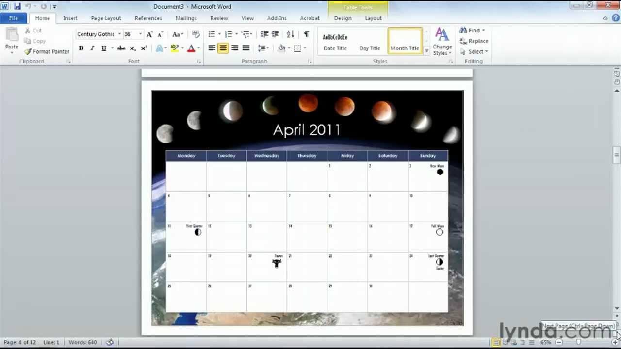 How To Use Microsoft Word Templates   Lynda Tutorial in How To Use Templates In Word 2010