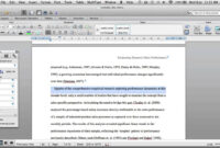How To Use Ms Word Styles For An Apa Thesis Or Journal Article pertaining to Ms Word Thesis Template
